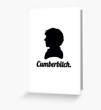 Cumberbitch silhouette design Greeting Card