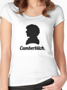 Cumberbitch silhouette design Women's Fitted Scoop T-Shirt