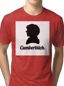 Cumberbitch silhouette design Tri-blend T-Shirt