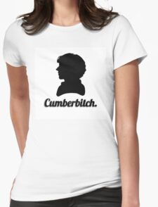 Cumberbitch silhouette design Womens Fitted T-Shirt