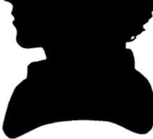 Cumberbitch silhouette design Sticker