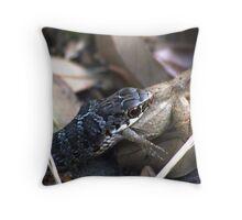 Rat Snake Having Lunch Throw Pillow