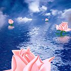 Roses In Water by lydiasart