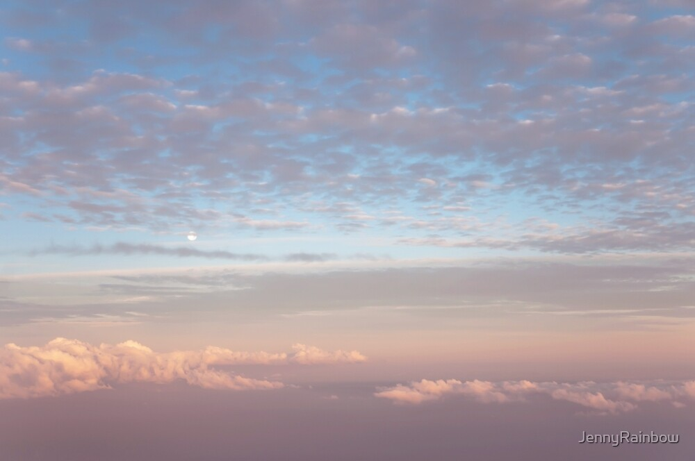 Tender Welcoming Sky over Spain. Full Moon by JennyRainbow