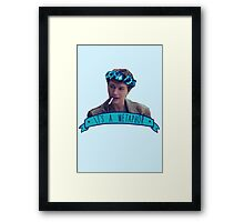augustus waters - metaphor Framed Print