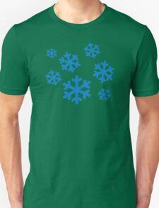 Blue snowflakes Unisex T-Shirt