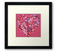 Wild and Unruly - Abstract Heart II - Pink Framed Print