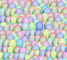 Pastel Colored Easter Eggs by Gravityx9