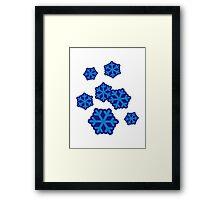 Snow snowflakes Framed Print