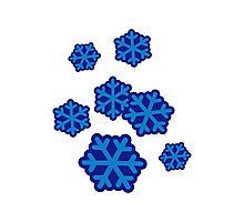 Snow snowflakes Photographic Print