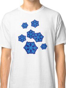 Snow snowflakes Classic T-Shirt