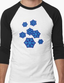 Snow snowflakes Men's Baseball ¾ T-Shirt