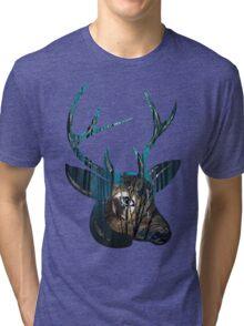 Night, Night Deer. Tri-blend T-Shirt
