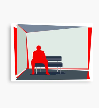 Person In Stress Canvas Print
