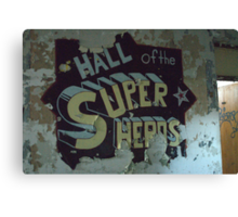 hall of super heros Canvas Print