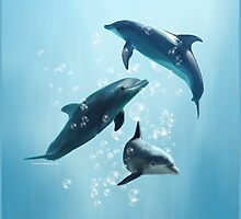 Dolphins in the Sea by DolphinPod