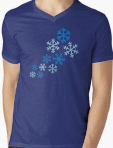 Winter snowflakes Mens V-Neck T-Shirt