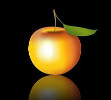 Apple on Black by lydiasart