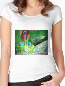 Easter Display Women's Fitted Scoop T-Shirt
