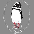 Happy Penguin in Converse by Kat Robichaud