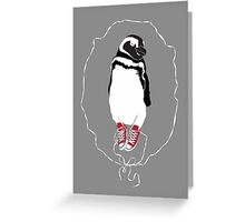 Happy Penguin in Converse Greeting Card