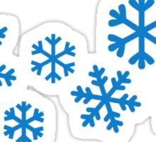 Blue snowflakes Sticker
