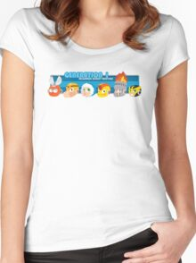 Megaman Generation 1 Robot Masters Women's Fitted Scoop T-Shirt