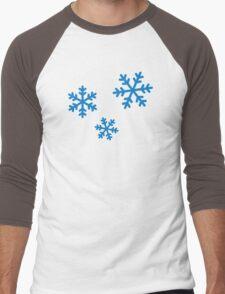 Snowflakes ice Men's Baseball ¾ T-Shirt