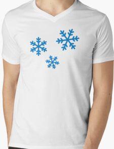 Snowflakes ice Mens V-Neck T-Shirt