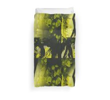 Yellow water color painted silver gelatin black and white print  of legs of female dancer analog film photo Duvet Cover