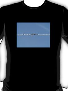 Barbed wire and the blue sky T-Shirt