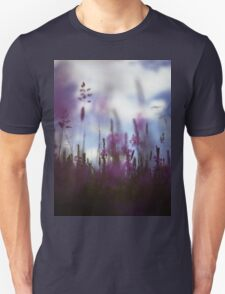 Long grass and wild flowers on summer day in Spain square medium format film analogue photography T-Shirt