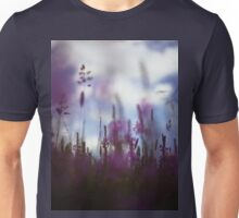 Long grass and wild flowers on summer day in Spain square medium format film analogue photography Unisex T-Shirt