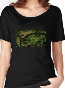 Camouflage Military Tribute Women's Relaxed Fit T-Shirt