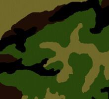 Camouflage Military Tribute Sticker