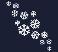 White snowflakes Baby Tee