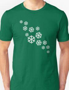 White snowflakes Unisex T-Shirt
