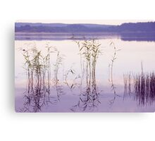 Morning Zen. Pearly Moments of Sunrise. Ladoga Lake. Northern Russia Canvas Print