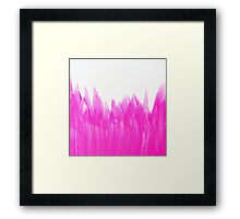 Neon Pink Brushed Framed Print