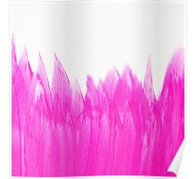 Neon Pink Brushed Poster