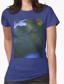 Leaves in blue square medium format film analog photographs Womens Fitted T-Shirt