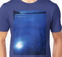 Mediterranean sea off Mallorca night blue color Hasselblad square medium format film analogue photo Unisex T-Shirt