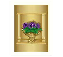 Violets In Antique Vase Art Print