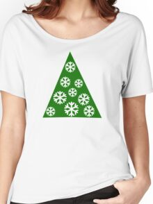 Christmas tree snow Women's Relaxed Fit T-Shirt