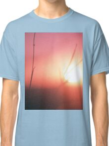 Foliage in silhouette against sun square medium format film analog photography Classic T-Shirt
