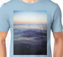 Mediterranean sea off Ibiza in dusk sunset evening colors Hasselblad square medium format film analogue photo Unisex T-Shirt