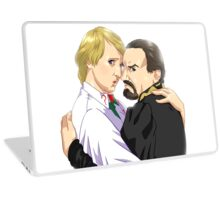 5th Doctor and The Master Laptop Skin
