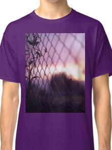 Wire fence and foliage on summer evening  in Spain square medium format film analogue photo Classic T-Shirt