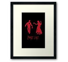 Zombie Love Framed Print