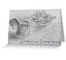 zippo ashtray Greeting Card
